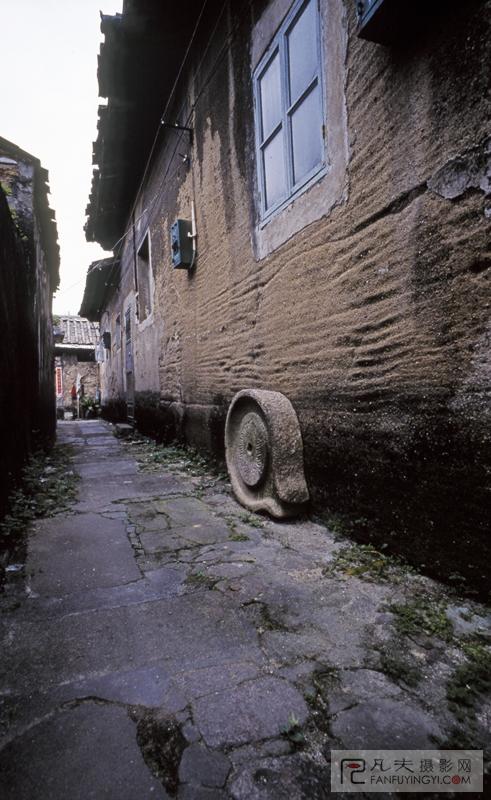 手绘古代街道闹市