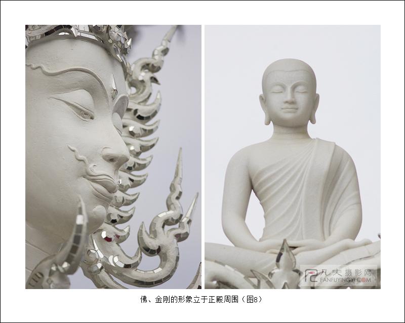 佛、金刚的形象立于正殿周围
