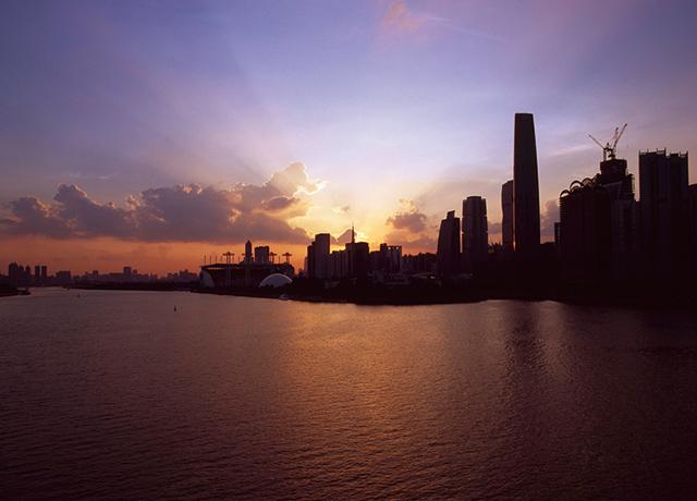日落珠江新城